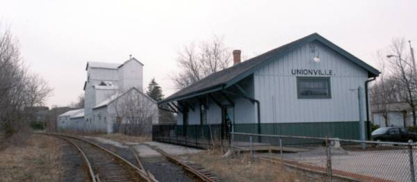 Unionvillle Station, built 1871, now restored on its original site as a community centre