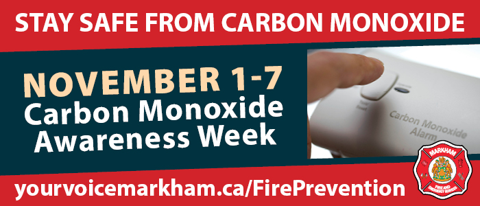 Carbon Monoxide Awareness Week Banner