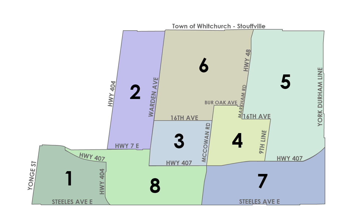 City of Markham Ward Map