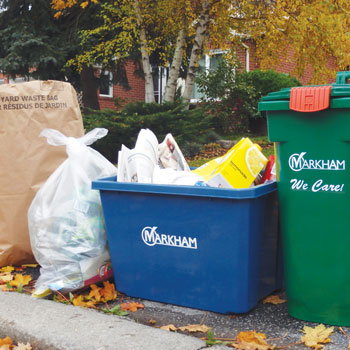 Recycling, garbage curbside materials