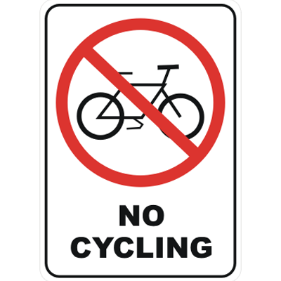 No cycling on sidewalk