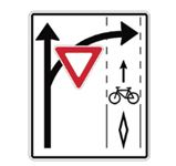 yield to cyclist sign