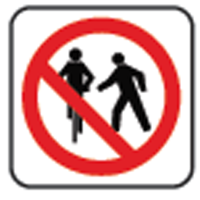do not pass pedestrian sign