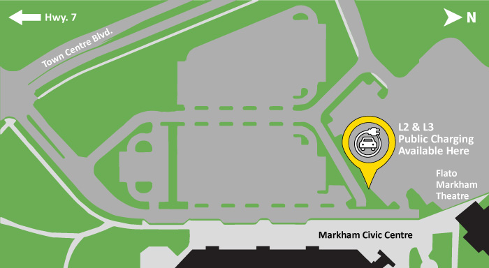 EV Charging at Civic Centre Map
