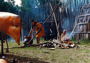 First Nations Village reconstruction late Woodland Period