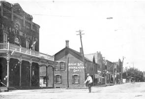 Franklin Hotel and Markham Main Street, c.1900