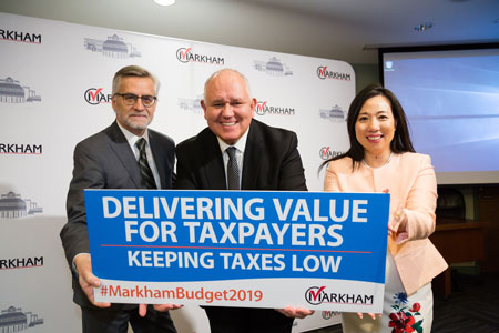 Markham 2019 Budget News Conference - Mayor Scarpitti, Councillor Collucci and Councillor Keyes