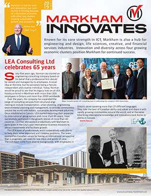 Cover of Markham Innovates Magazine