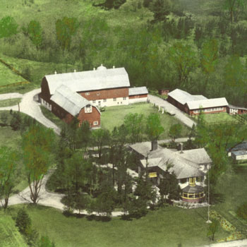 Heintzman House Historic Photo Aerial Grounds View