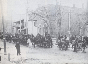 early view of Main Street, Markham Village